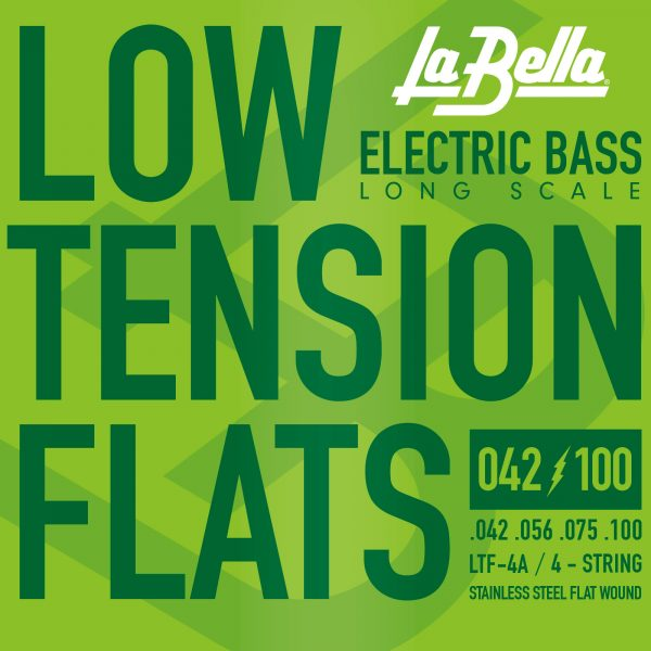 La Bella LTF-4A Low Tension Flexible Flats Bass Strings
