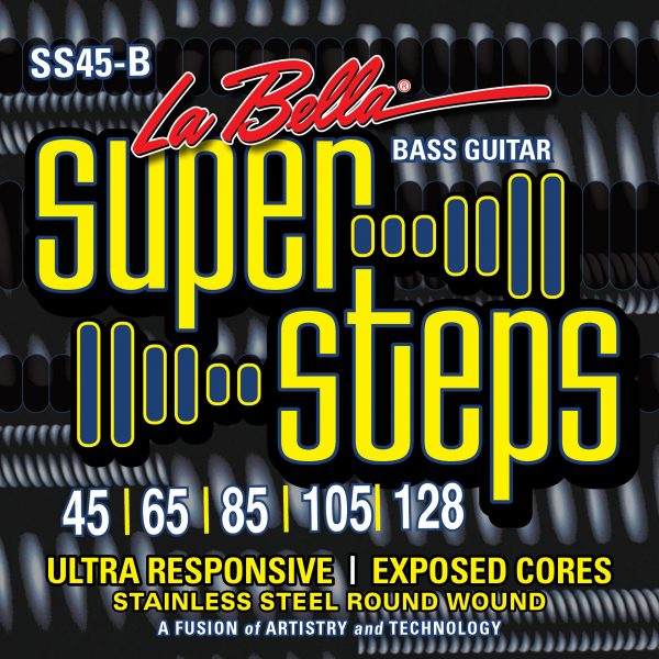 LaBella SS45-B Bass Super Steps Stnrd 5 STR 45-128