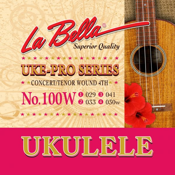 La Bella 100W Uke-Pro Series Ukulele Strings Wound 4th