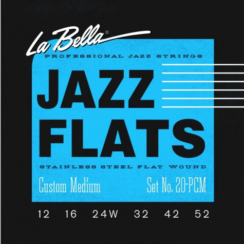 La Bella 20PCM Jazz Flats Stainless Steel Custom Medium