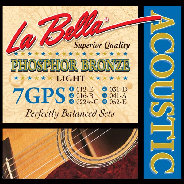 La Bella 7GPS Phosphor Bronze Light 12-52