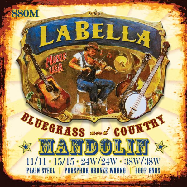 La Bella 880M Mandolin Phosphor Bronze Medium