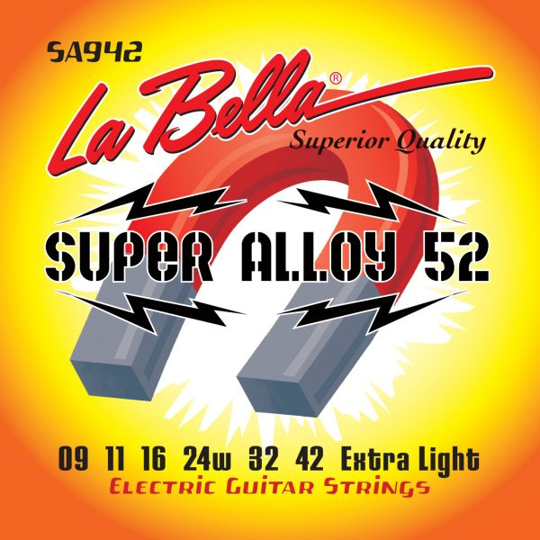 La Bella Super Alloy 52 Extra Light 9-42