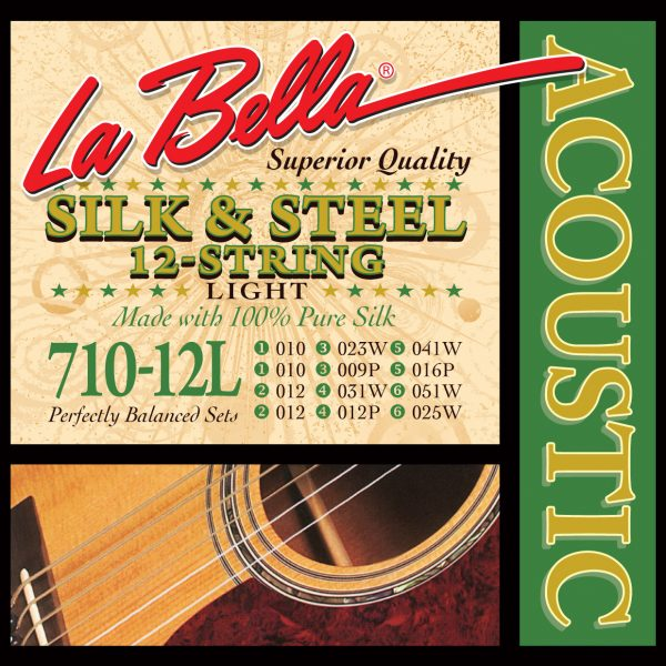 La Bella 710-12L Acoustic Silk & Steel 12 String Light