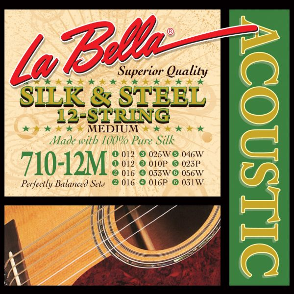 La Bella 710-12M Acoustic Silk & Steel 12 String Medium