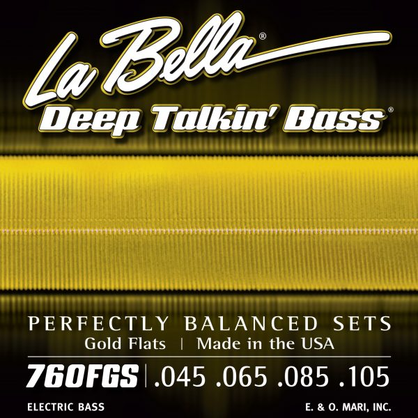 La Bella 760FGS Deep Talkin' Bass Gold