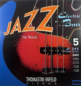 Thomastik-Infeld JF345 Jazz Flat Wound 5 String 34″