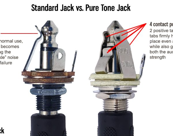 Pure Tone Full Contact Output Jack, Mono (25 pack)