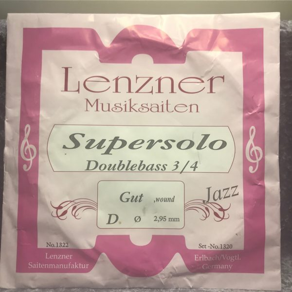 Lenzner 1322 Supersolo Jazz single D string Gut/Perlon wound 3/4 Double Bass