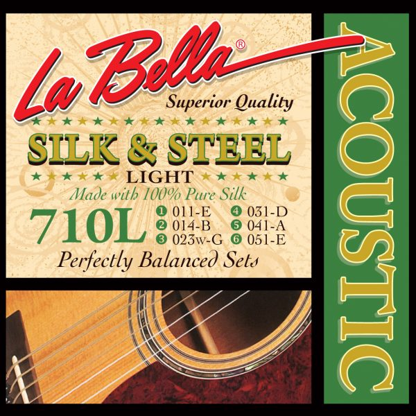 La Bella 710L Silk & Steel Light Acoustic