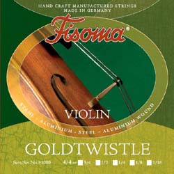 Lenzner F1000 Fisoma Goldtwistle Violin Strings 4/4