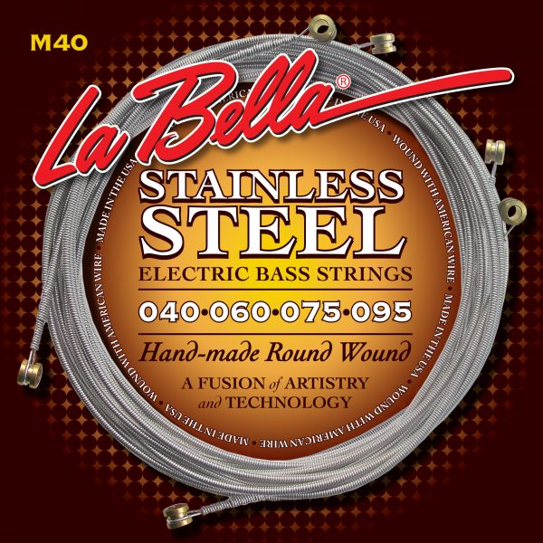 La Bella M40 Stainless Steel Round Wound Extra Light 40-95
