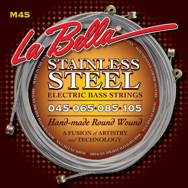 La Bella M45 Stainless Steel Round Wound Standard Light 45-105