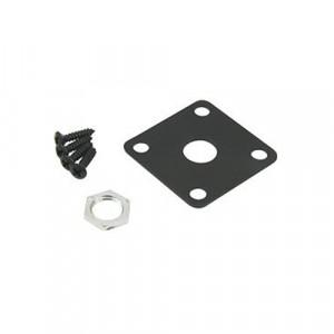 DiMarzio GG1400BK Jack Plate Edgemount Brass Black Chrome