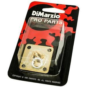 DiMarzio GG1400G Jack Plate Edgemount Brass Gold