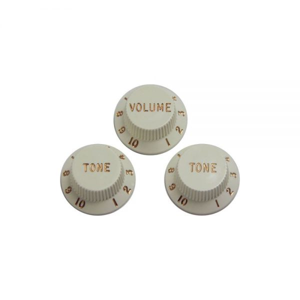 DiMarzio DM2111W Replacement knob set for Strat white