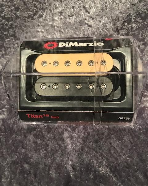 DiMarzio DP258BC Titan Black-Cream Neck Pickup