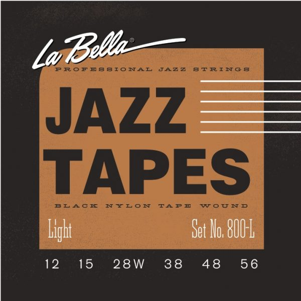 La Bella 800L Black Nylon Tape Wound Electric Guitar Strings