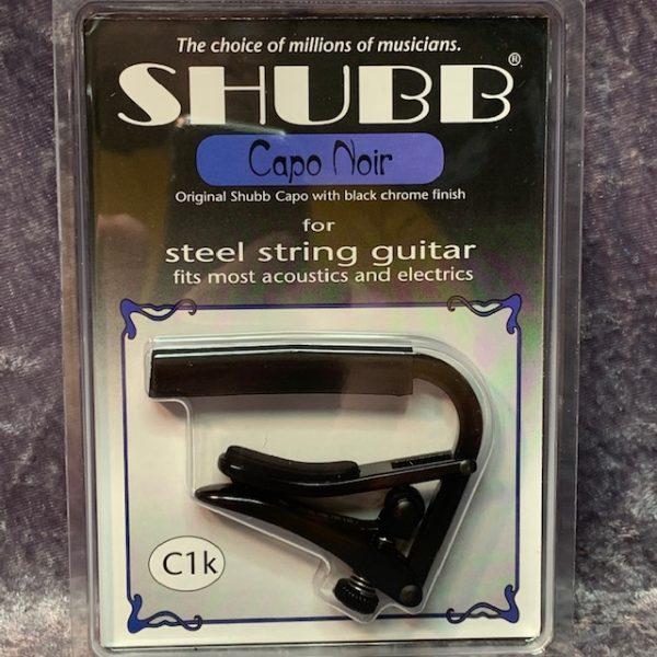 Shubb C1k Capo Noir Black Chrome Steel String Capo