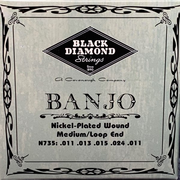 Black Diamond N735 Nickel Plated Wound 4th Banjo Medium
