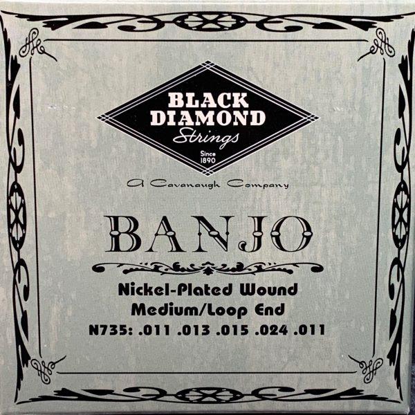 Black Diamond N735 Nickel Plated Wound 4th Banjo Medium