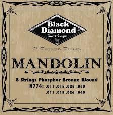 Black Diamond N774 Phosphor Bronze Mandolin Set Medium