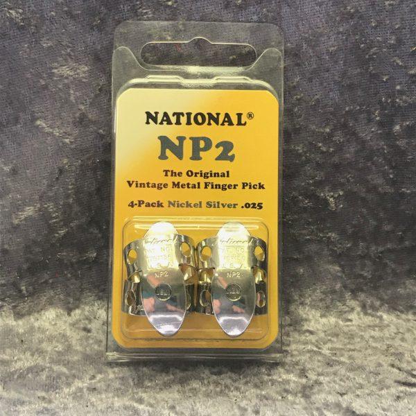 National Finger Picks NP2 Vintage Nickel Silver 4 pack