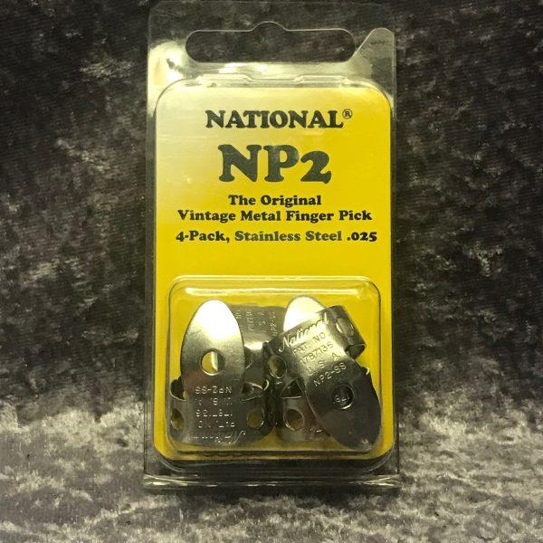 National Finger Picks NP2S Stainless Steel 4 pack