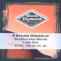 Black Diamond N762 Silver Plated Wound Mandolin Set