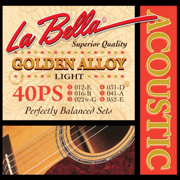 La Bella 40PS Golden Alloy Lite 80/20