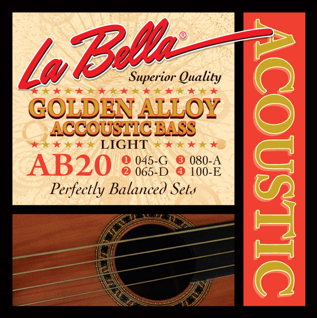 la bella ab20 golden alloy acoustic bass light 45 100 prospec. Black Bedroom Furniture Sets. Home Design Ideas