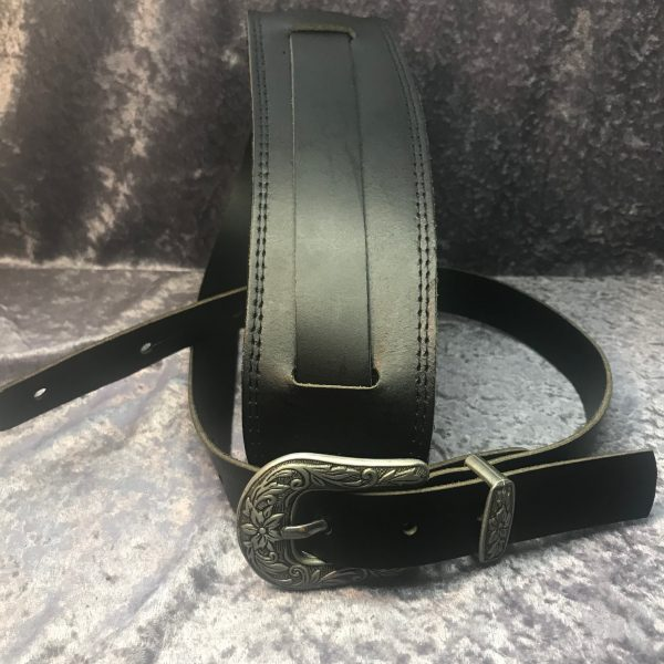 Steph CY1725BLK Cyclone Vintage Style Guitar Strap