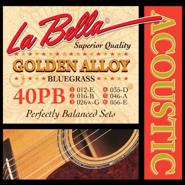 La Bella 40PB Golden Alloy