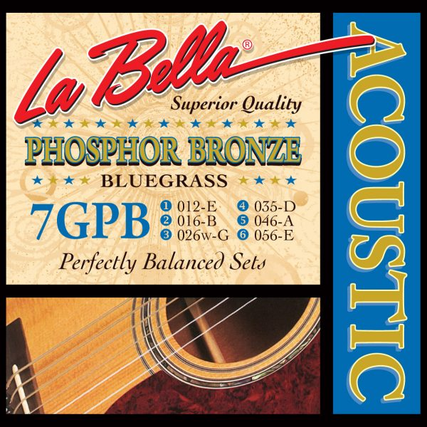 La Bella 7GPB Phosphor Bronze Bluegrass 12-56