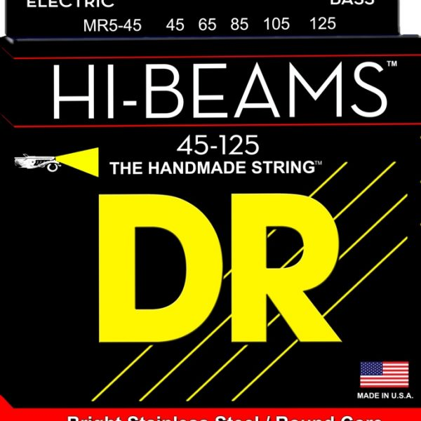 DR HIGH-BEAM MR5-45 Stainless Steel Bass Medium 5 String 45-125