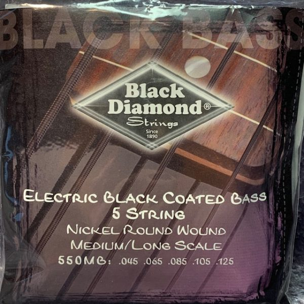 Black Diamond N550MB Black Coated Nickel 5 String Bass 45-125