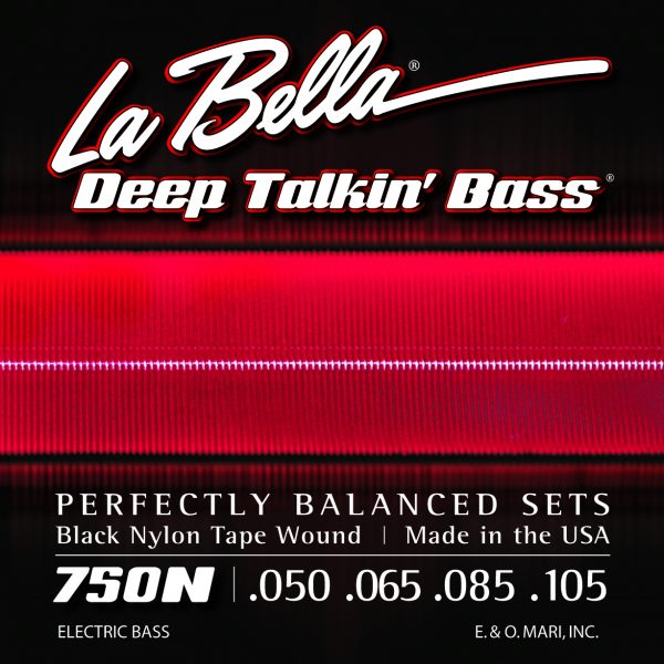 La Bella 750N Deep Talkin' Bass Black Nylon Tape