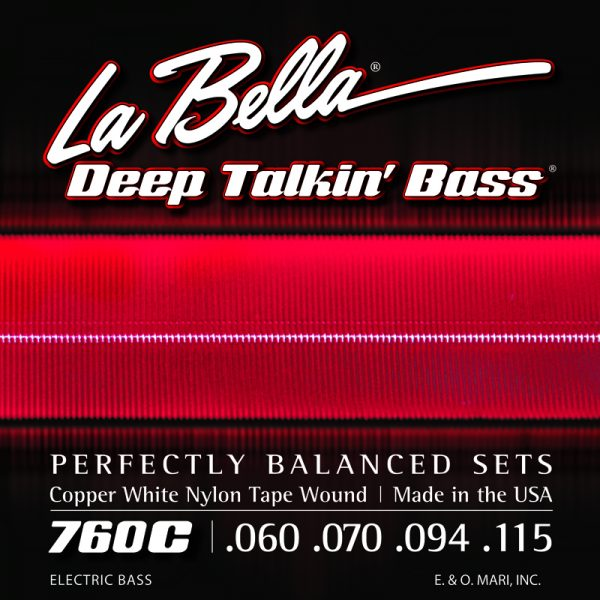 La Bella 760C Deep Talkin' Bass Copper White Nylon Tape