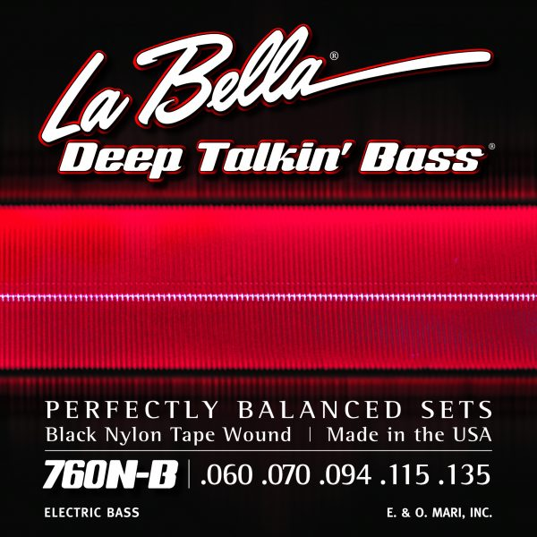 La Bella 760N-B Deep Talkin' Bass 5 Black Nylon Tape