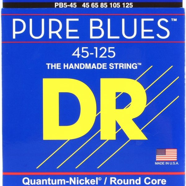 DR PB5-45 Pure Blues Quantum Nickel 5 string 45-125
