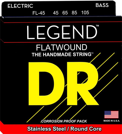 DR Legend FL-45 Stainless Steel Flat Wound 45-105