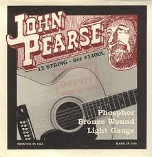 John Pearse 1400L Phosphor Bronze Light 12 String
