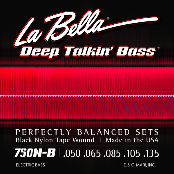 La Bella 750N-B Deep Talkin' Bass Black Nylon Tape 5 String