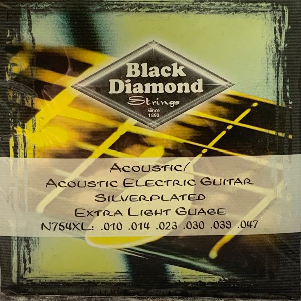 Black Diamond Acoustic Electric Silver Plated Extra Light