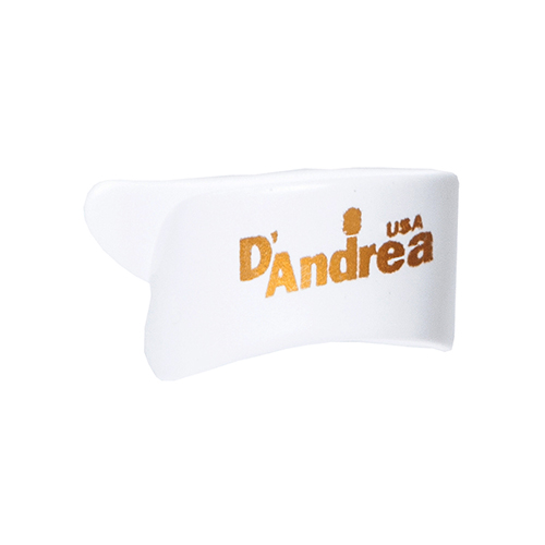 D`Andrea Medium White Thumbpicks (6 pack)