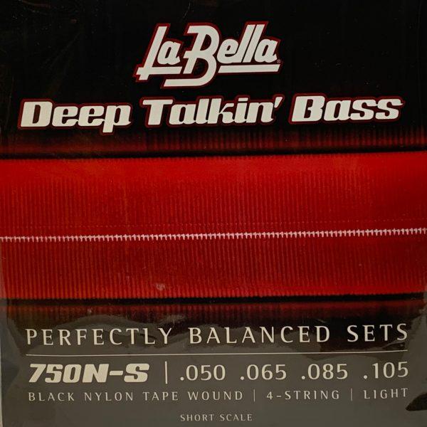La Bella 750N-S Deep Talkin' Bass Black Nylon Tape Short Scale