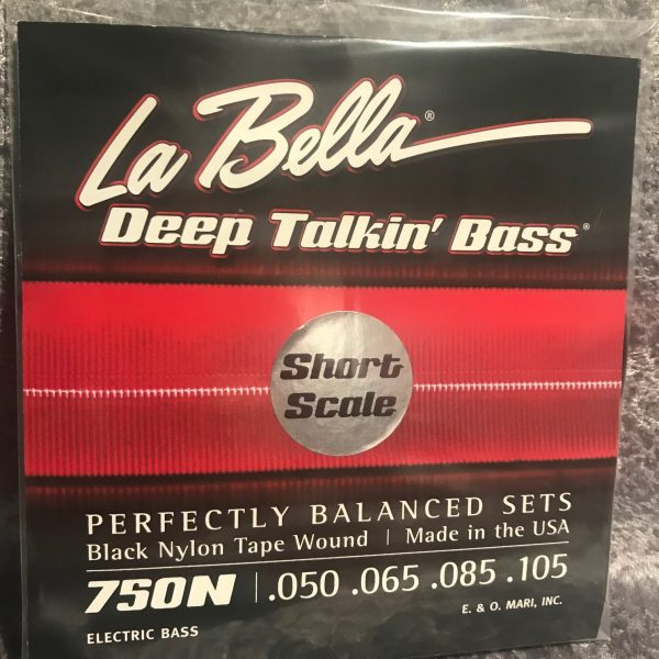 La Bella 750N-S Deep Talkin' Bass Black Nylon Tape Short Scale