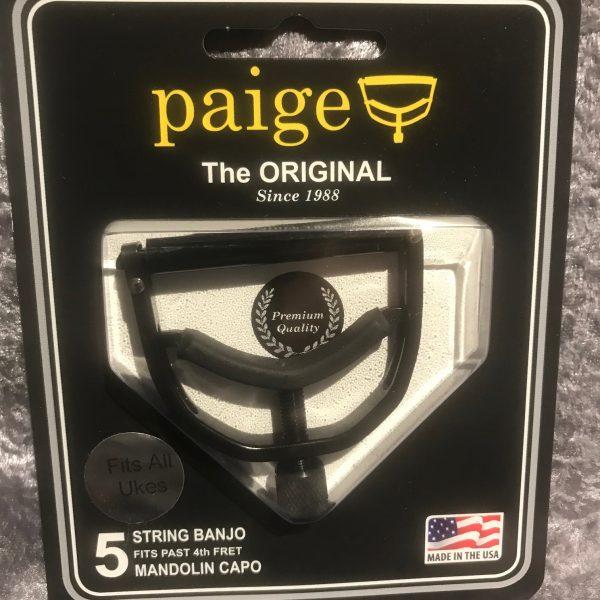 Paige Banjo/Mandolin Capo Wide Black