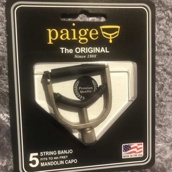 Paige Mandolin Capo Brushed Nickel