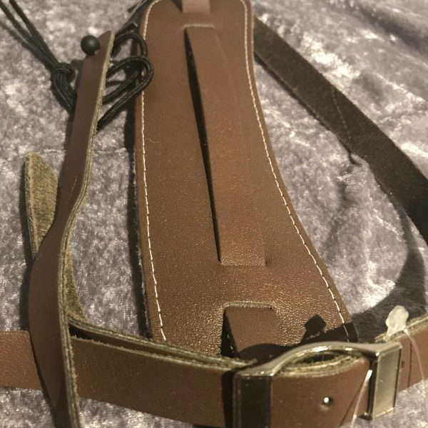 Perri's Brown Leather Vintage style guitar strap